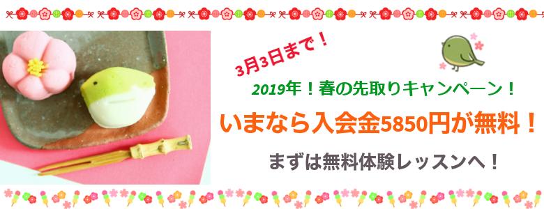 2019年!春の先取りキャンペーン!sp