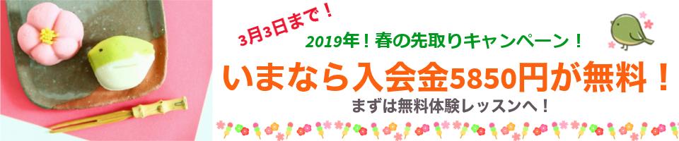 2019年!春の先取りキャンペーン!