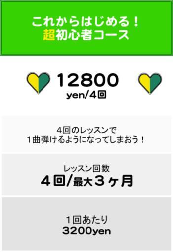 初心者コース料金表2