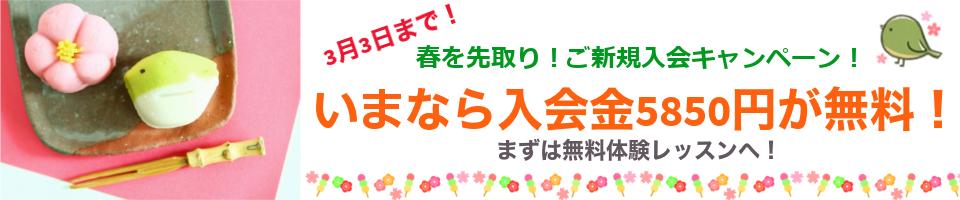 春を先取り!ご新規入会キャンペーン!