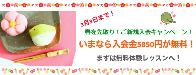 春を先取り!ご新規入会キャンペーン!sp